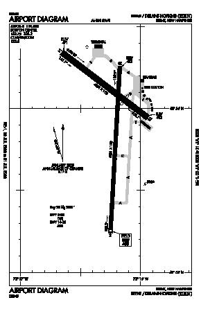 Dillant-hopkins Airport (EEN) diagram