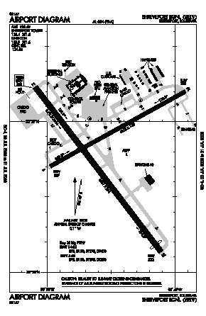 Shreveport Regional Airport (SHV) diagram