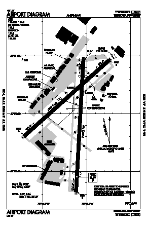 Teterboro Airport (TEB) diagram
