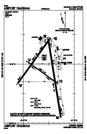 Valdosta Regional Airport (VLD) diagram