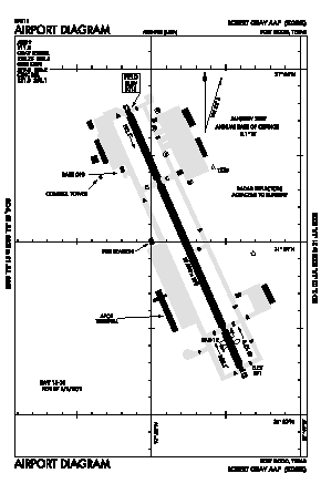 Robert Gray Aaf Airport (GRK) diagram