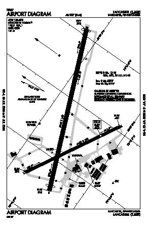 Lancaster Airport (LNS) diagram