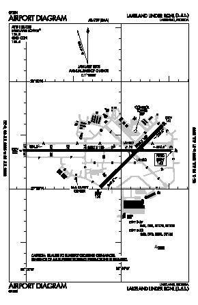 Lakeland Linder Regional Airport (LAL) diagram