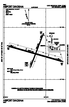 Cape Girardeau Regional Airport (CGI) diagram