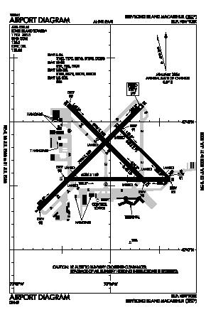 Long Island Mac Arthur Airport (ISP) diagram