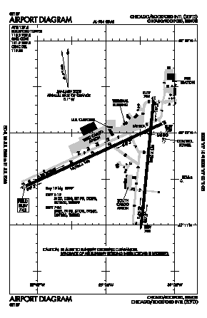Chicago/rockford International Airport (RFD) diagram