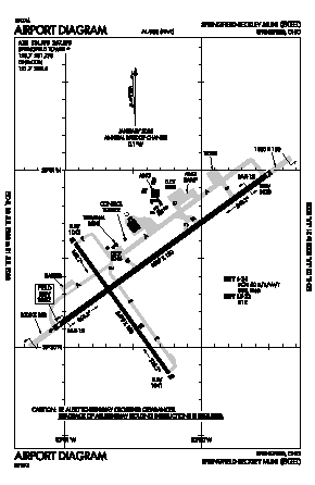 Springfield-beckley Municipal Airport (SGH) diagram