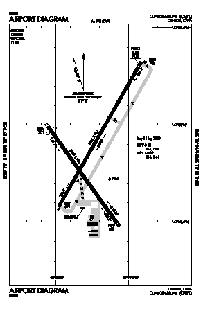 Clinton Municipal Airport (CWI) diagram