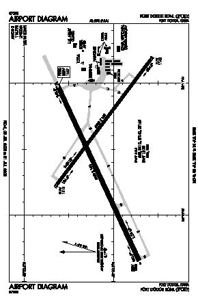 Fort Dodge Regional Airport (FOD) diagram