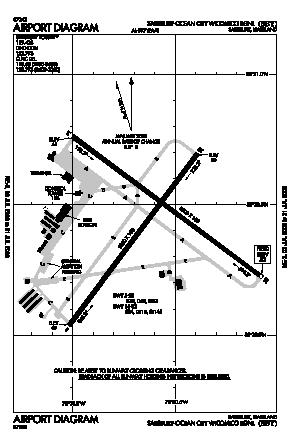 Salisbury-ocean City Wicomico Regional Airport (SBY) diagram