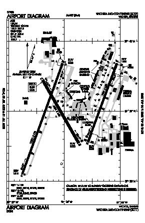 Wichita Mid-continent Airport (ICT) diagram