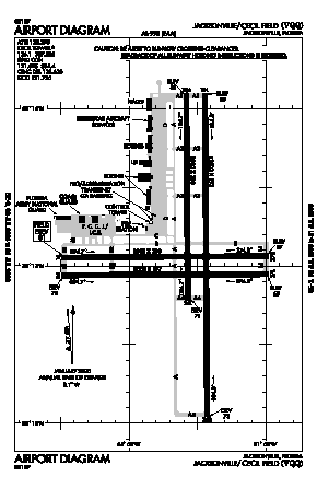 Cecil Airport (VQQ) diagram