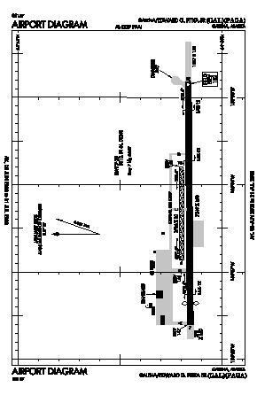 Edward G. Pitka Sr Airport (GAL) diagram