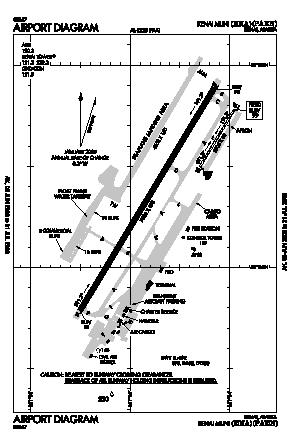 Kenai Municipal Airport (ENA) diagram