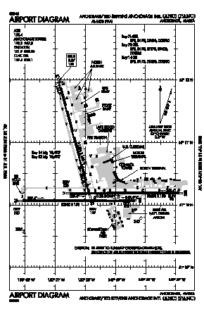 Ted Stevens Anchorage International Airport (ANC) diagram
