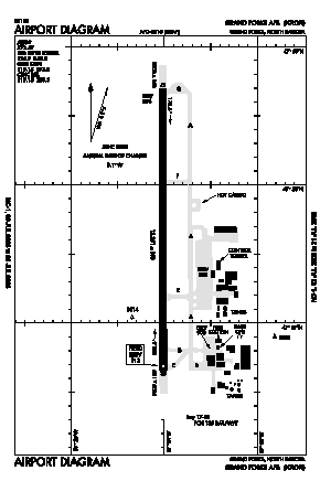 Grand Forks Afb Airport (RDR) diagram