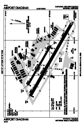 Hayward Executive Airport (HWD) diagram