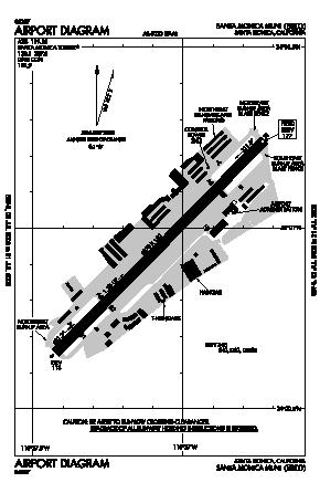 Santa Monica Municipal Airport (SMO) diagram