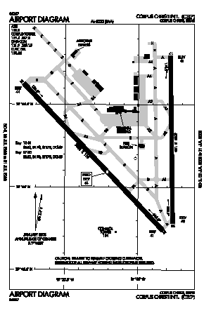 Corpus Christi International Airport (CRP) diagram