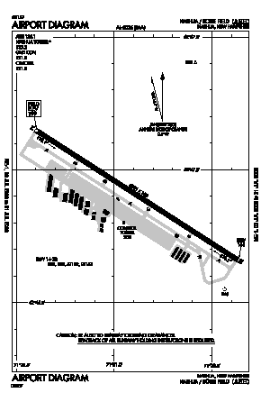 Boire Field Airport (ASH) diagram