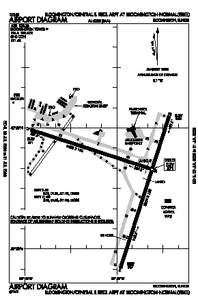 Central Il Regional Arpt At Bloomington-normal Airport (BMI) diagram