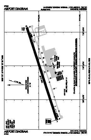 General Wm J Fox Airfield Airport (WJF) diagram