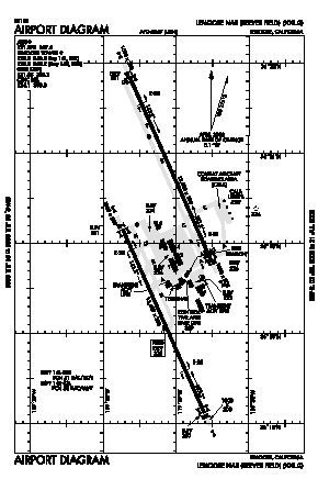 Lemoore Nas (reeves Fld) Airport (NLC) diagram