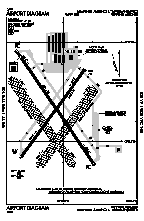 Lawrence J Timmerman Airport (MWC) diagram