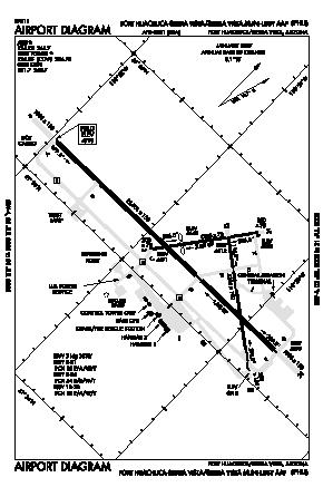 Sierra Vista Muni-libby Aaf Airport (FHU) diagram