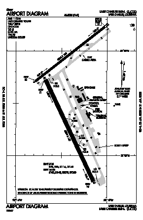 Lake Charles Regional Airport (LCH) diagram