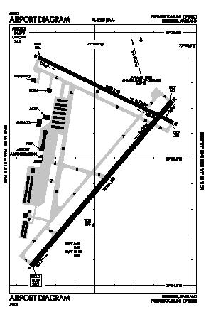 Frederick Municipal Airport (FDK) diagram