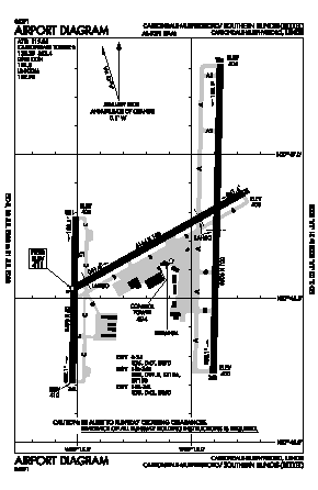 Southern Illinois Airport (MDH) diagram