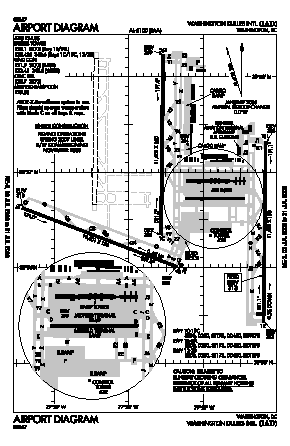 Washington Dulles International Airport (IAD) - Map, Aerial Photo ...