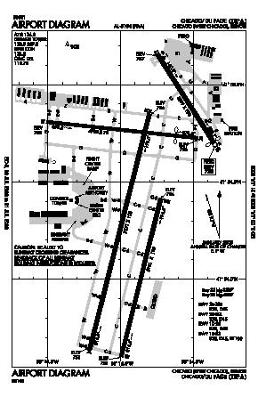 Dupage Airport (DPA) diagram