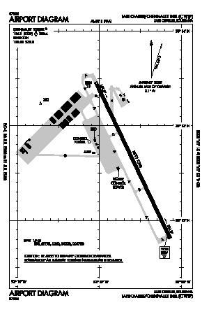 Chennault International Airport (CWF) diagram