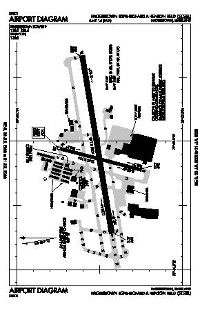 Hagerstown Rgnl-richard A Henson Fld Airport (HGR) diagram