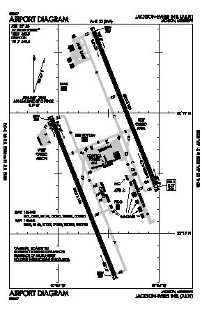 Jackson-medgar Wiley Evers International Airport (JAN) diagram