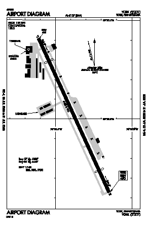 York Airport (THV) diagram