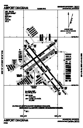 Crystal Airport (MIC) diagram