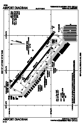 Zamperini Field Airport (TOA) diagram