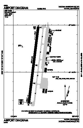 Tacoma Narrows Airport (TIW) diagram