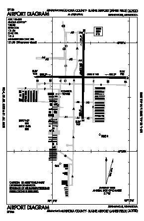 Anoka County-blaine Arpt(janes Field) Airport (ANE) diagram