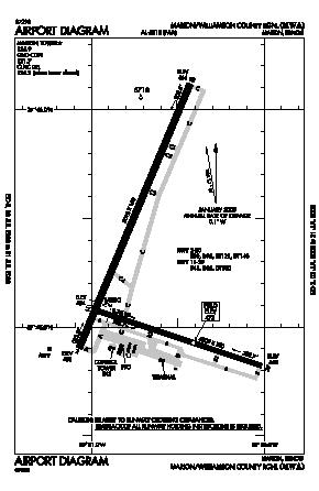 Williamson County Regional Airport (MWA) diagram