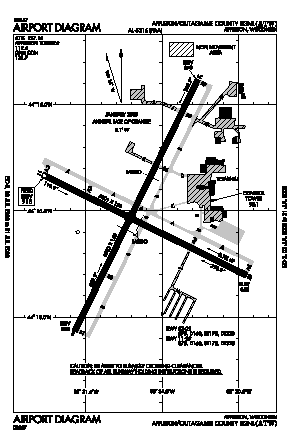 Outagamie County Regional Airport (ATW) diagram
