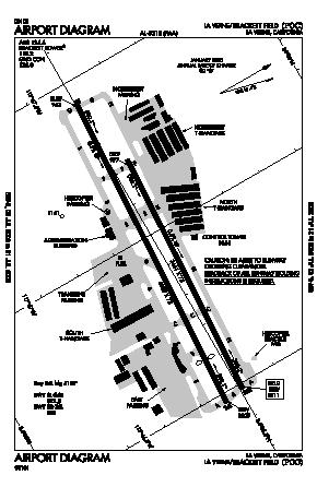 Brackett Field Airport (POC) diagram