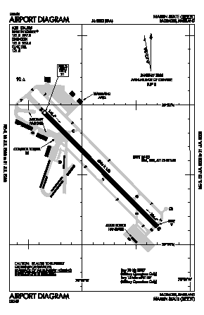 Martin State Airport (MTN) diagram