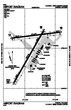 Essex County Airport (CDW) diagram