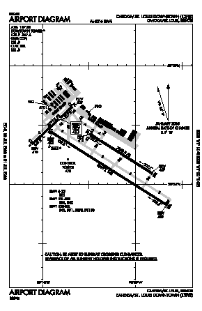 St Louis Downtown Airport (CPS) diagram