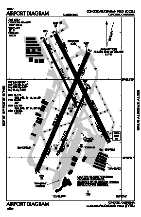 Buchanan Field Airport (CCR) diagram