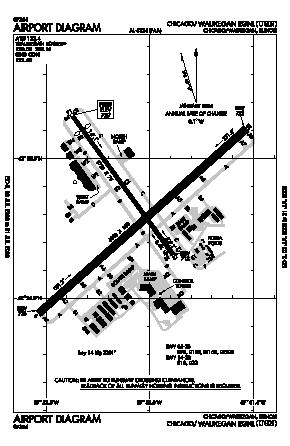 Waukegan Regional Airport (UGN) diagram